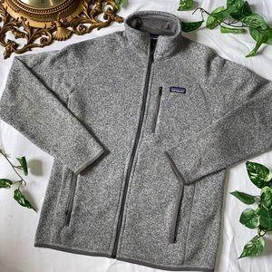 Gray Full Zip Better Sweater